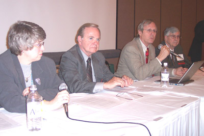 SATRO 7 panelists (left to right): Cindy Parman, Dr. Alan Porter, James Hugh, and Dr. Carl Bogardus